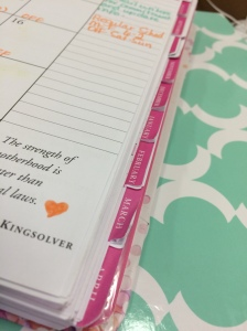 I love tabs. I like to be able to turn to exactly where I want to be. My planners all have tabs.